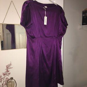 Billy Reid Empire Waist Purple Mini Dress 4